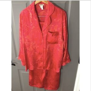 Neiman Marcus Silk Satin Two-Piece Pajama Set c9a3a52c7